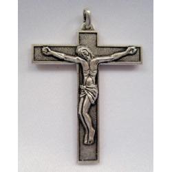 Croix en métal argenté