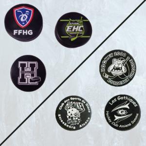 palet de hockey sur glace à personnaliser quadrichromie ou blanc