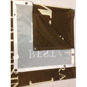 Banderole tissu 100% polyester